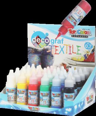 barvy na textil Toy color 25ml 24ks stojánek mix 4x6barev(8015189009777)