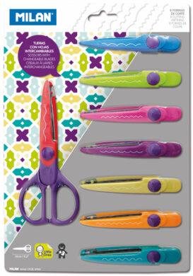 nůžky dětské Milan ozdobné 8 nástavců(8411574006725)