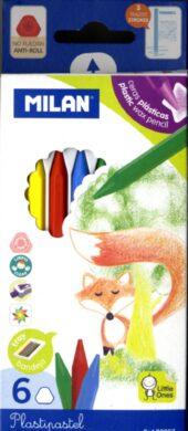pastelky  Milan Plasticolor  6 barev(8411574800071)