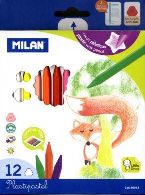 pastelky  Milan Plasticolor 12 barev(8411574800132)