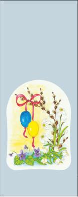 sáček velikonoční 12 x 30 čirý Jarní kvítí(8594028133649)