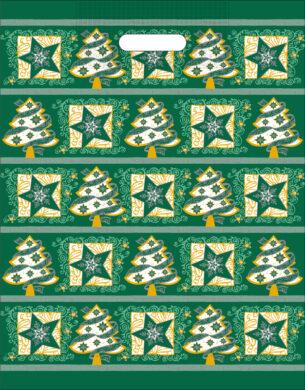 taška  vánoční 46 x 35  zelená fantazie(8594028133687)