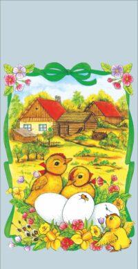sáček velikonoční 20 x 40 čirý Housata na dvoře(8594028133779)