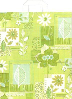 taška 45 x 40 s uchy květinová inspirace(8594028133823)