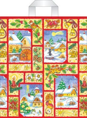 taška  vánoční s uchy 46 x 39 vánoční kouzlo(8594028133847)