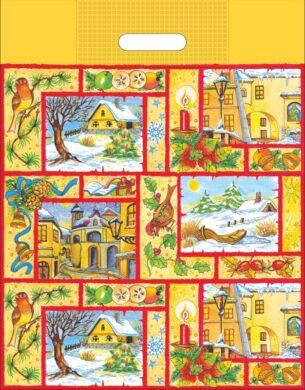 taška  vánoční 46 x 35 zimní vesnička(8594028133854)