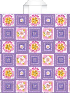 taška 45 x 40 s uchy vodní květy(8594028133908)