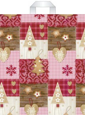 taška  vánoční s uchy 46 x 39 vánoční dekorace(8594028133991)