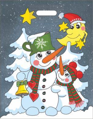 taška  vánoční 46 x 35 sněhuláci(8594028134011)