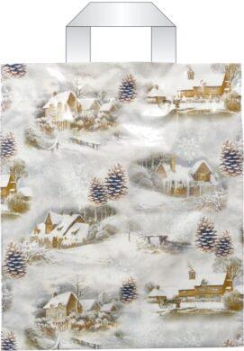 taška  vánoční s uchy 46 x 39 zimní inspirace(8594028134080)