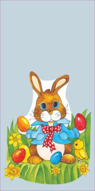 sáček velikonoční 20 x 40 čirý Zajíc s mašlí(8594028134158)