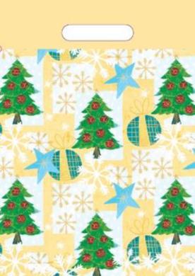 taška  vánoční 35 x 25  stromeček(8594028134172)