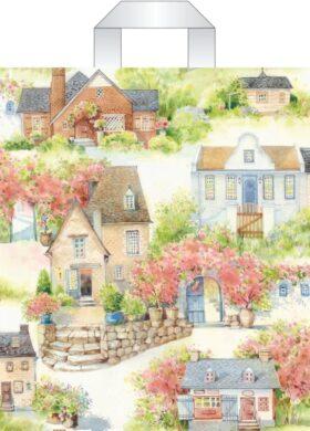 taška 45 x 40 s uchy dům se zahradou(8594028134271)