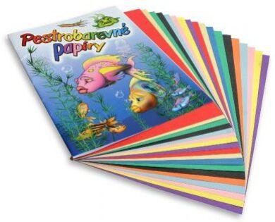barevné papíry pestrobarevné 20 listů H(8594030982457)