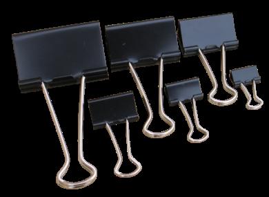 klip Binder černý Tempus 19mm(8594033822521)