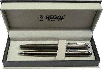 kuličkové pero + roller Hadrian - šedá(8594033822934)
