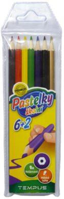 pastelky    Tempus  0607  6+2 barvy(8594033823214)