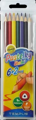 pastelky   Tempus 0307 trojhranné  6+2 barvy(8594033823252)