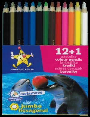 pastelky   Europen 1613 jumbo 12+1 - tuha 5,8 mm(8594033823580)