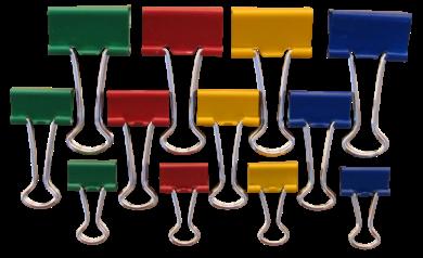 klip Binder barevný Tempus  15mm(8594033823917)
