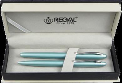 kuličkové pero + roller Alice - tyrkysvá světlá(8594033824310)