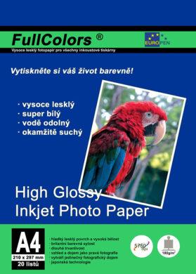 fotopapír Europen A4 180 g  20 ks vysoce lesklý(8594033824426)