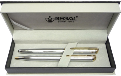kuličkové pero + roller Harmonia - stříbrná(8594033824525)