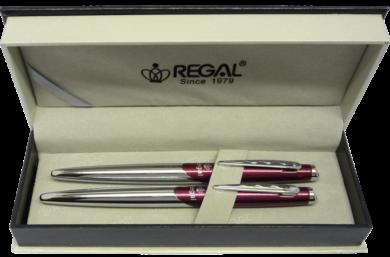 kuličkové pero + roller Themis - červená(8594033824815)