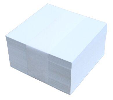 kostka nelepená   bílá 9x9x5(8594033825072)