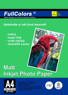 fotopapír Europen A4 180 g  20 ks matný(8594033825935)