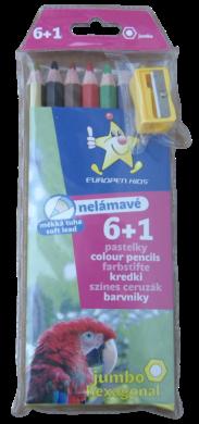 pastelky   Europen 1607 jumbo 6+1 ořezávátko(8594033825973)