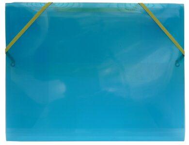 desky  3 klopy s gumou  Europen A4 modré(8594033827250)