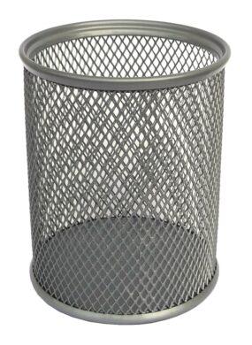 stojánek drátěný na tužky kulatý Europen  stříbrný(8594033827335)