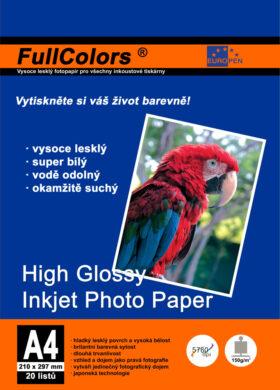 fotopapír Europen A4 150 g  20 ks vysoce lesklý(8594033827878)