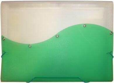desky  13 kapes s gumou ARCHES A4 zelené(8594033828547)