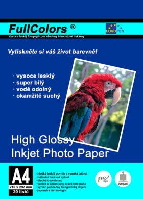 fotopapír Europen A4 200 g  20 ks vysoce lesklý(8594033828813)
