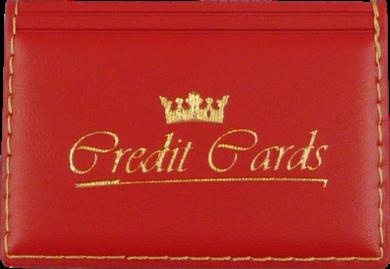 pouzdro na kreditní karty červené(8594033830694)