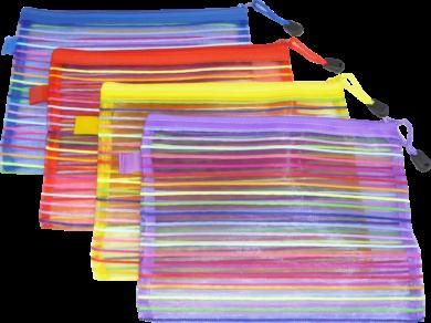 desky se zipem   A5 Europen mix barev síťované(8594033831042)