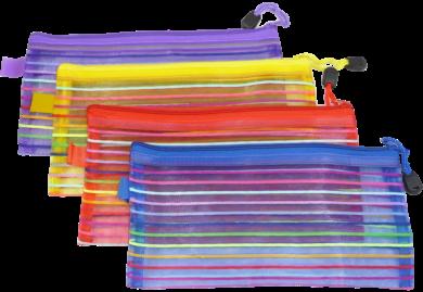 desky se zipem Europen DL mix barev síťované(8594033831059)