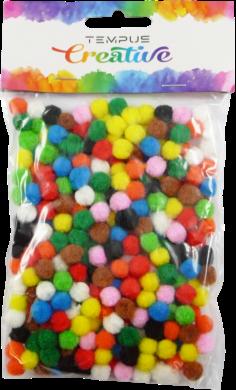 pom poms 7mm bar.mix 300ks(8594033831646)