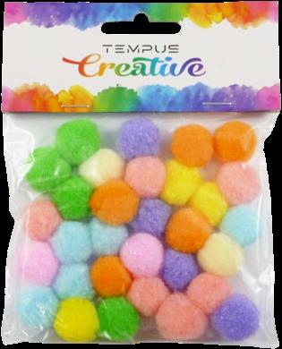 pom poms 20mm bar.pastel mix 30ks(8594033831684)