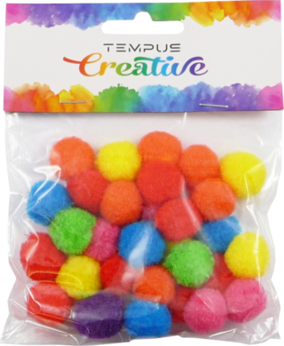 pom poms 20mm bar.neon mix 30ks  (8594033831691)