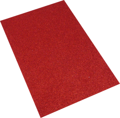 pěnová guma A4 glitr červená EG-004(8594033832087)