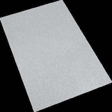 pěnová guma A4 glitr stříbrná EG-015(8594033832131)