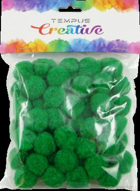 pom poms 20mm zelený 50ks(8594033832407)