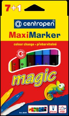 popisovač Centropen 8649/8 7+1 maxi magic(8595013614402)