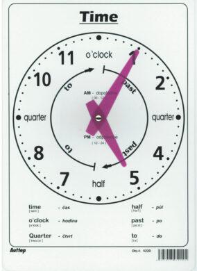školní hodiny anglické A4 5220(8595023952204)