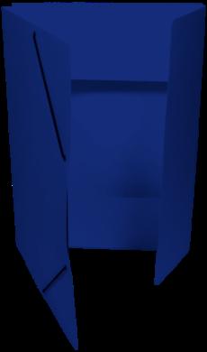 odkládací mapa 253 s gumou prešpán modrá tm.(8595058332026)