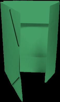 odkládací mapa 253 s gumou prešpán zelená tm.(8595058332040)