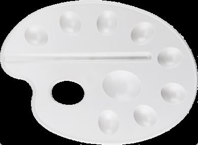 paleta výtvarná L bílá BR-215(8680628001133)